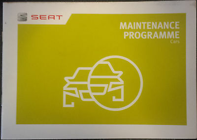 Seat Maintanance Programme (blank) Service Book