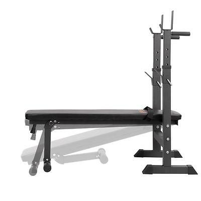 Decline Flat Rack Home Gym Bench Press Adjustable Fitness Exercise Weight Stand