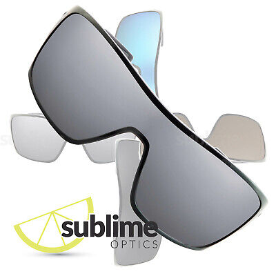 POLARIZED Metallic Silver Replacement Lenses for Oakley Turbine Rotor ~ Mirror