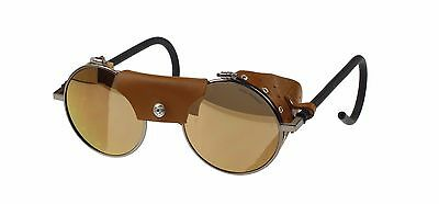 Julbo Vermont Classic Sunglasses, Re-Edition, Brass, Brown Leather, Spectron 3CF