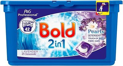 Laundry Tablets Bold 2 In 1 Lavender and Camomile Liquitabs 2 x 42 Pack
