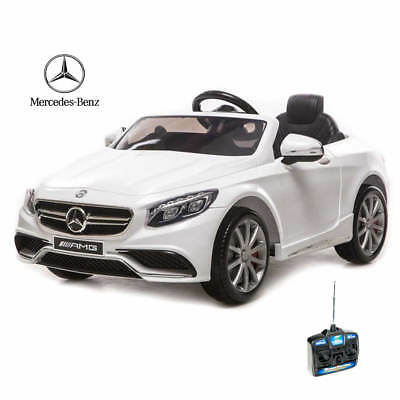 New Licensed Mercedes S63 AMG Coupe 12v Ride On Childrens Toy Car Remote - BLACK