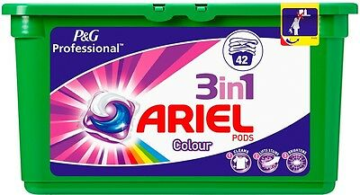 Laundry Washing Tablets Ariel 3 In 1 Colour Liquitabs 2 Packs of 42