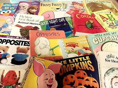 Lot of 50 Board Toddler Hardcover Picture DayCare Kid Child Books - MIX UNSORTED