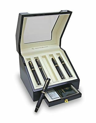 Conway Stewart Collector's Limited Edition Pen Box Case 5 Black Lacquer $600!