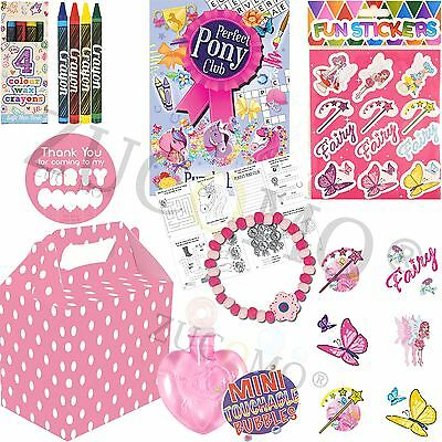 Childrens Filled Party Food Boxes Girls Pink Party Bags & Fillers