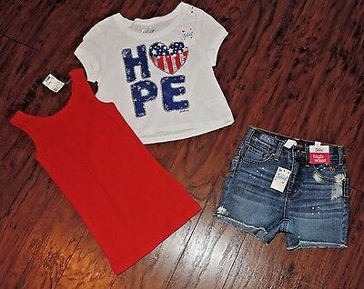 Justice Girls 3 Piece lot of summer clothes size 8 NEW!