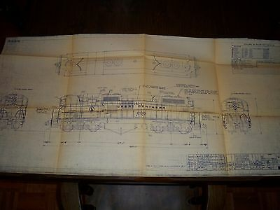 1950 Styling & Painting Used on GN 5029 GP-9 Cars Blueprint w/ Revisions to 1955