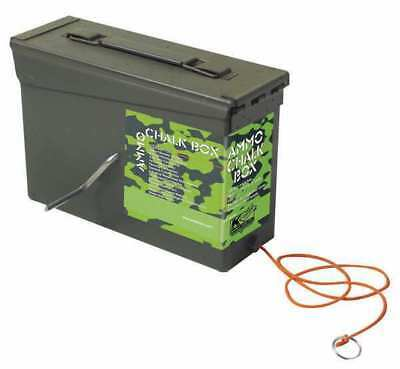 KRAFT TOOL GG302 Chalk Line Box,150 ft,Poly Cord,Camo Grn