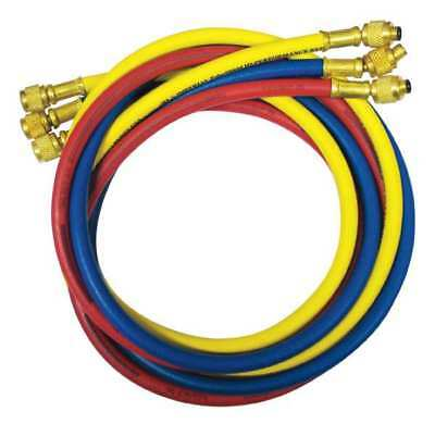 IMPERIAL 805-MRS Manifold Hose Set,60 In,Red,Yellow,Blue