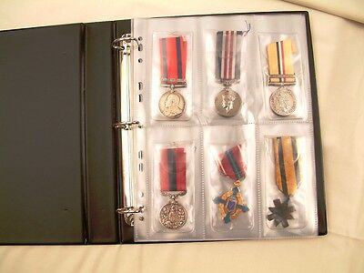 10 x PACK COLLECTORS MEDAL ALBUM REFILLS DISPLAY PLASTIC ARCHIVE SLEEVES A4