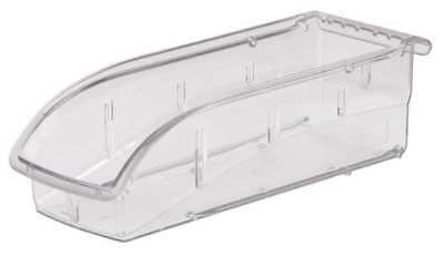 "Clear Hang and Stack Bin, 10-7/8""L x 4-1/8""W x 3-1/4""H AKRO-MILS 305A5"