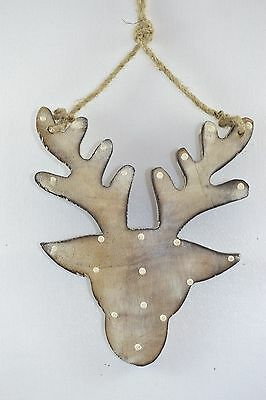Wooden Stag Hanging Decoration