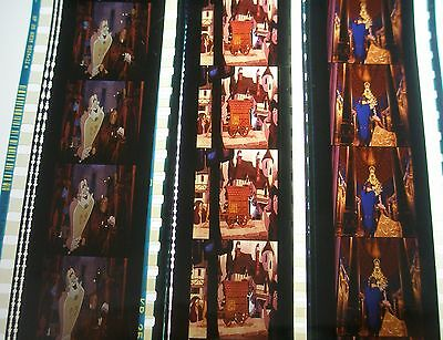 Disney's - Beauty And The Beast-  Rare Unmounted 35mm Film Cells - 3 Strips