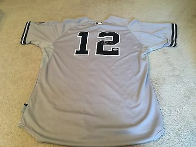 Chase Headley Signed Game Used Yankee Jersey - PSA, MLB and Steiner