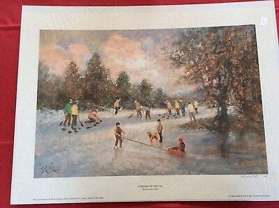 LIMITED EDITION SiGNED PRINT. CURLING ON THE TAY 52/500.