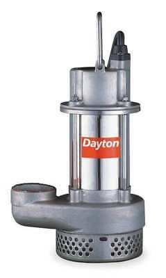 Sump Pump, Stainless 1/2 HP, 4.7 Amps AC DAYTON 1XHV4