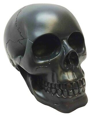 Qbi Black Death Voodoo Skull Statue Resin Figurine Awesome Details