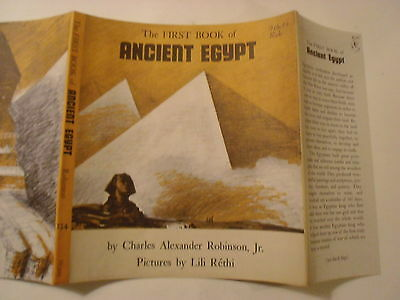 The First Book of Ancient Egypt, Charles Robinson, Dust Jacket Only