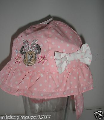 Disney Minnie Mouse Sun Hat ages 0-6, 6-12,12-23 mth holiday 26th june-5th july