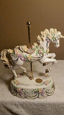 San Fransisco Music Box Company Carousel Horse (Floral Collection.