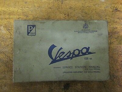 Vespa 152L2 232L2 Service station manual original / workshop manual