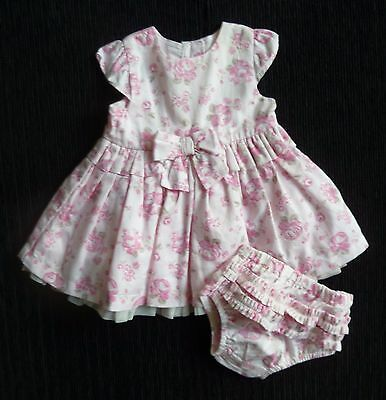 Baby clothes GIRL premature/tiny 7.5lbs/3.4kg pink dress/pink/grey roses + pants