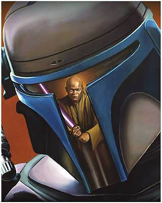 Star Wars Attack of the Clones Jango Fett / Mace Windu 16x20 Poster