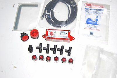 Lifeline Rally Spa Firefighter Control Box, 2X Push Buttons 6 Nozzles + Fittings