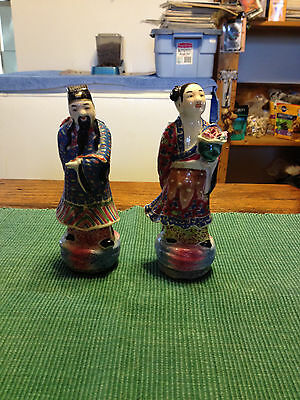 Antique Chinese Porcelain Figurines-Group of 9
