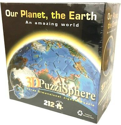 Our Planet The Earth 3d World Globe PuzziSphere Map 212 Piece Jigsaw Puzzle