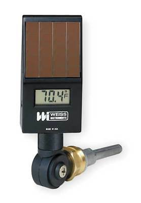 WEISS DVU35 Digital Solar Powered Thermometer, Black
