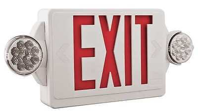 Acuity Lithonia LED Lamps, Exit Sign with Emergency Lights, LHQM LED R HO