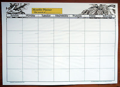 A1 A0 Office Organiser A2 Vacation Roster Dry Wipe Laminated PLANNER