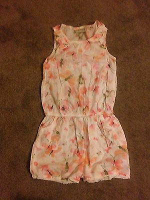 Next Girls Floral Playsuit Age 5 Years