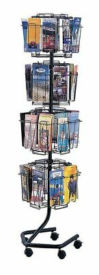 "Safco Brochure Display Rack 32 Compartments, 15""W x 15""D Charcoal, 4128CH"