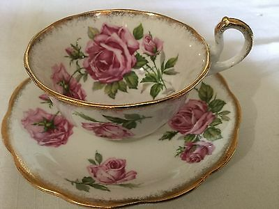 Royal Standard Bone China Cup And Saucer  England    Orleans Rose Pattern