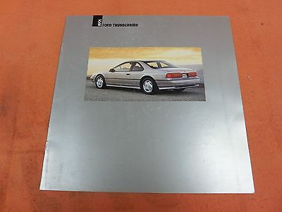 1991, Ford, Thunderbird, Super Coupe,Ford Showroom Sales Brochure,