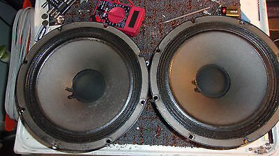 """'72 Ampeg Svt CTS Alnico 10"""" Speakers A Match Pair 32 Ohms 'SEE VIDEO'"""