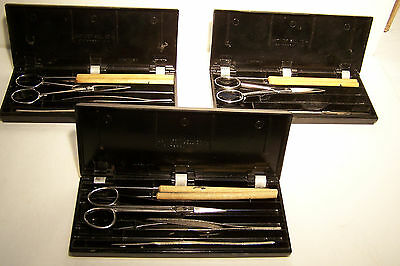 3 Vintage Hamilton Bell Dissecting sets
