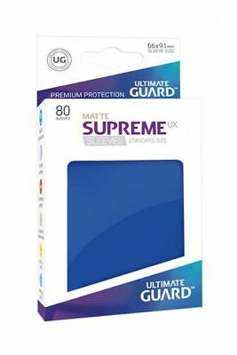 Ultimate Guard Supreme UX Sleeves Standard Matte Blue 80 Kartenhüllen