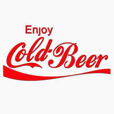 Enjoy cold beer 100% Cotton, Short Sleeve White T-shirt