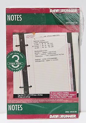 Day Runner Notes Refill Pages 011-200 Classic Edition - 3 Ring