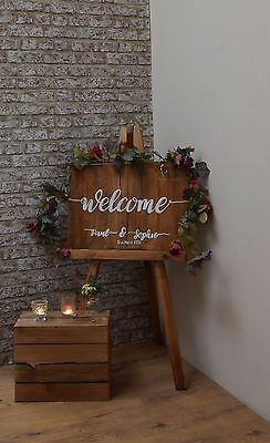 Rustic Wedding Sign - Hand Painted and Personalised
