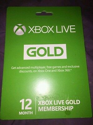 xbox 12 month gold membership