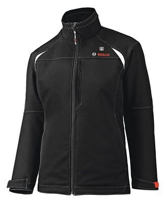 BOSCH PSJ120XL-102W Heated Jacket, Women, XL, Black, Polyester
