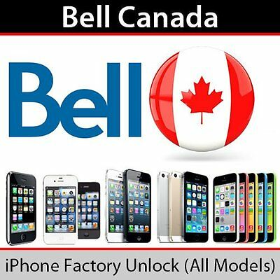 Fast! Bell/Virgin Canada iPhone 7/7+/SE/6S+/6S/6+/6/5S/5C/5/4S Express Service!