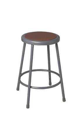 NATIONAL PUBLIC SEATING 6230H Stool, Adjustable, Steel, Gray, 31 to 39 In