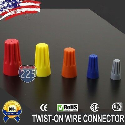 Variety of Twist-On Wire GARD Connectors Conical nuts Barrel Screw RoHS UL LOT