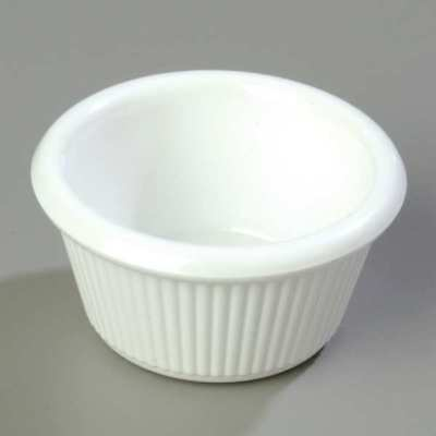 White Fluted Ramekin, White ,Carlisle, S28202